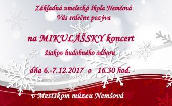 Pozvánka na Mikulášsky hudobný koncert žiakov