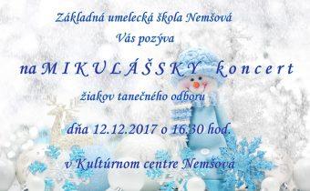 Pozvánka na Mikulášsky tanečný koncert žiakov